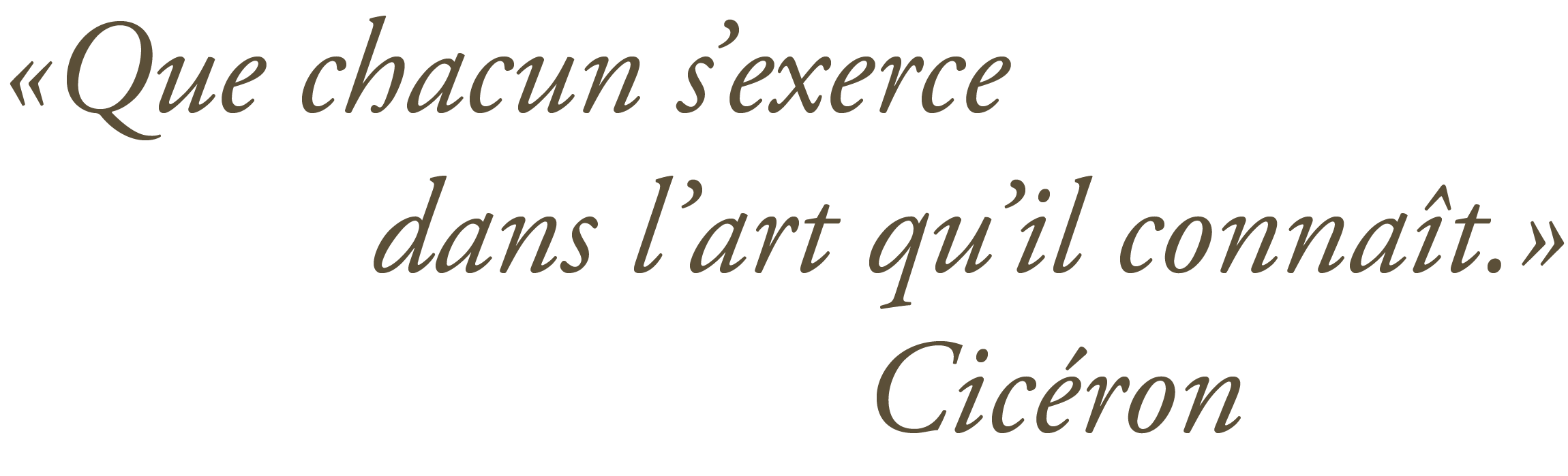 Citation de Cicéron